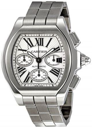 Herren Chronograph Cartier W6206019 Roadster Automatik Edelstahl Armbanduhr Bild