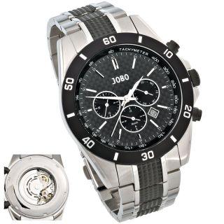Jobo Automatic Herrenuhr Herren Armbanduhr Uhr Edelstahl Glasboden J - 37219 Bild
