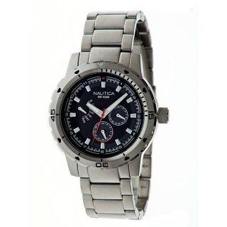 Armbanduhr Herren Nautica N18620g Tag Datum 24h Anzeige Stahl Multifunktion Bild