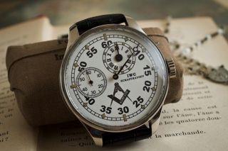 Iwc Schaffhausen Men ' S Wristwatch Herren Armband Uhr 1900s Antique Bild