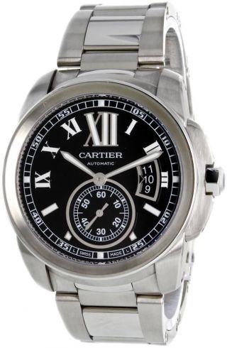 Herren Automatik Edelstahl Uhr Cartier W7100016 Bild