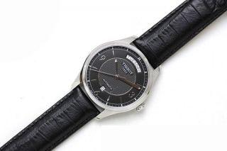 Armbanduhr Herren Tissot T - Klassisch T - One Schwarz Leder T0384301605700 Mit Box Bild