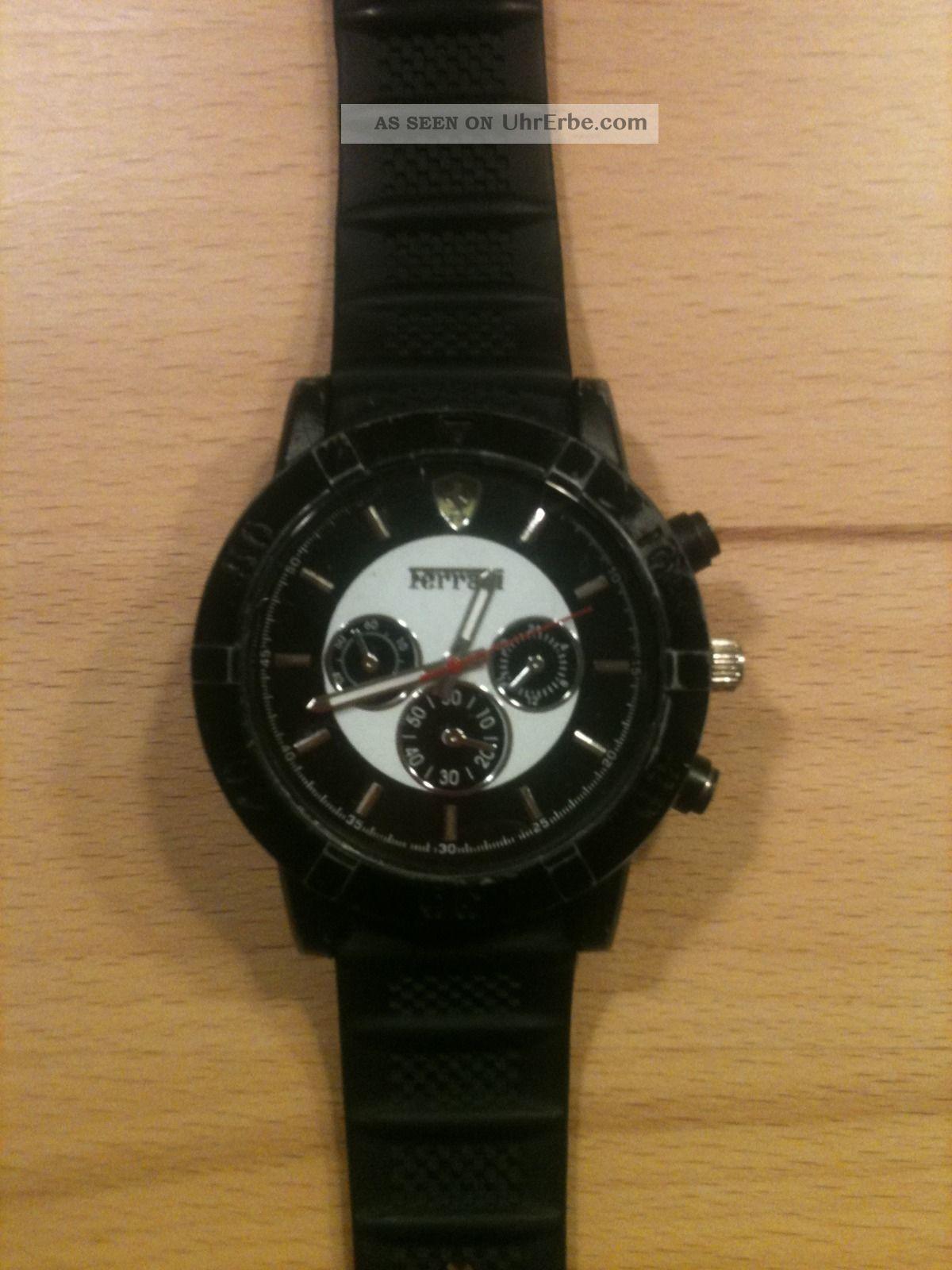 Hochwertige Herrenuhr Ferrari Chronograph Schwarz Armbanduhren Bild