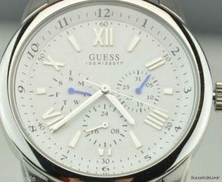 Uhr Uhren Guess Armbanduhr Herren Silber Edelstahl Quarz Deu Bild