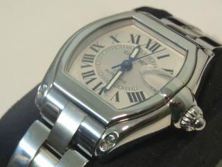Neuwertige Ungetragene Herren Uhr Cartier Roadster - Edelstahl Automatik / Datum Bild