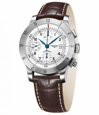 Longines Heritage Automatisch Chronograph Stahl Herren Armbanduhr L2.  741.  4.  73.  2 Bild