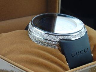 Gucci Weiß Echte Diamant - Digitaluhr Ya114202 Individuelle Vollverkleidung 5 Ct. Bild