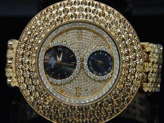 Herren Vereisungs Joe Rodeo Jojo 3 Row 4 Individuelle Lünette Diamant - Band - Uhr Bild