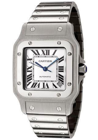 Cartier W20098d6 Santos De Cartier Galbee Sehr Grosse Männer Edelstahl Uhr Bild