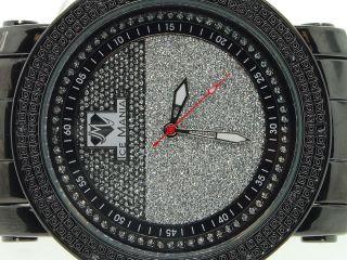 Herren Eis Manie Jojo Vereisungs Joe Rodeo Diamant Uhr Schwarz Glänzend Im1181m Bild