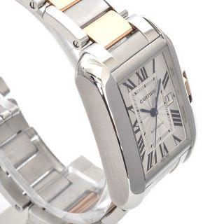 Armbanduhr Cartier W5310007 Tank Anglaise Groß Automatik 18k Gold Edelstahl Bild