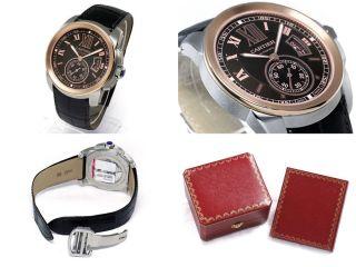 Armbanduhr Leder Cartier W7100051 Kaliber Herren Automatisch Rosa Gold Stahl Bild