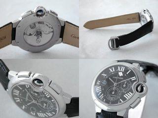Herren Armbanduhr Cartier Ballon Bleu Xl Auto Chronograph Leder W6920052 Bild
