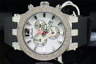 Joe Rodeo Diamant Uhr Broadway Jrbr8 - Band Aus Weißem Perlmutt Zifferblatt5ct Bild