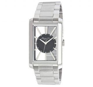 Kenneth Cole Herren Silber Edelstahl Armband Transparent Zifferblatt Uhr Kc3995 Bild