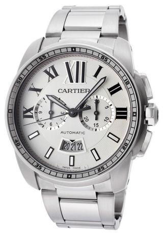 Herren Automatik Chronograph Uhr Cartier W7100045 Calibre Edelstahl Bild