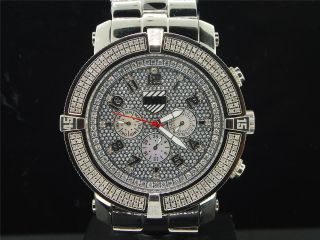 Herren Platin Watch Company 5.  Allee Joe Rodeo Diamant Uhr 160 Pwc - 5av107 Bild
