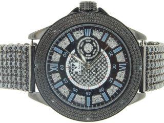 Armbanduhr Herren Ice Mania Jojino Joe Rodeo Diamant 6 Reihen Schwarz Im3012 Bild