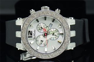Neue Joe Rodeo Breiten Weg Jrbr10 Diamond Polyurethan - Silbernem Zifferblatt 5ct. Bild