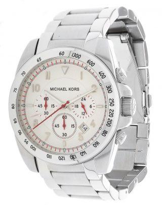 Michael Kors Herren Armbanduhr Chronograph Silber Mk8131 Bild
