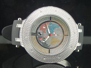 Herren Eis Mania Jojo Vereisungs Joe Rodeo Diamant Uhr Weiß Glänzend Im1223 Bild