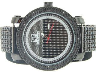 Armbanduhr Herren Ice Mania Jojino Joe Rodeo Diamant 6 Reigen Schwarzes Armband Bild