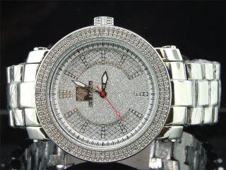 Herren Eis Manie Vereisungs Jojino Joe Rodeo Diamant Uhr Weiß Glänzend Im1176m Bild
