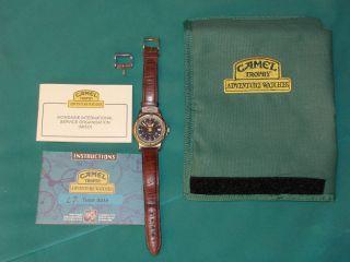 Camel Trophy Herren - Armbanduhr Mit Orig.  - Tasche Bild