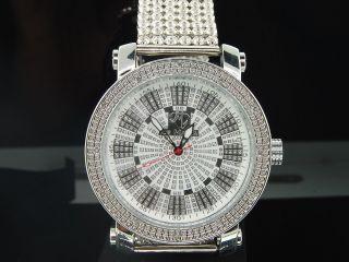 Herren Ice Mania Jojino Joe Rodeo Diamant Armbanduhr 6 - Reihige Custom Weiss Band Bild