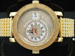 Armbanduhr Herren Ice Mania Jojino Joe Rodeo Diamant 6 Reihen 2 Zeitzonen Im2020 Bild