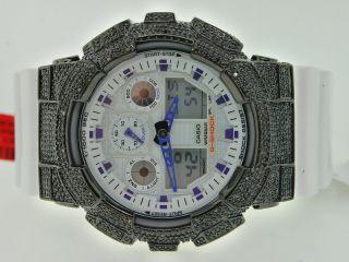 Armbanduhr Herren G - Shock/g 0.  25k Diamant Lila Bild