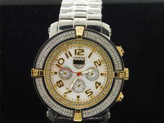Herren Platinum Uhrenunternehmen 5th Allee Joe Rodeo Diamant Uhr 160 Pwc - 5av103 Bild