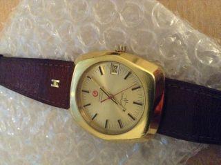 Rar Certina Certronic Chronometer Herren Armbanduhr Stimmgabel Datum Vergoldet Bild