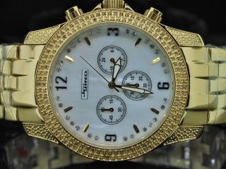 Mens Jojino Joe Rodeo.  25ct Diamant Gelben Ton Uhr Bild