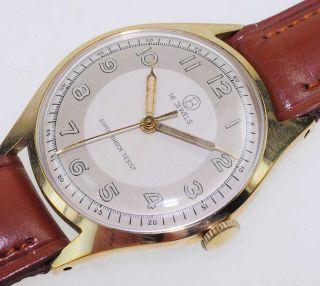 Bifora Top Bauhaus Watch Damen Herren 1950 Handaufzug Lagerware Nos Vintage 47 Bild
