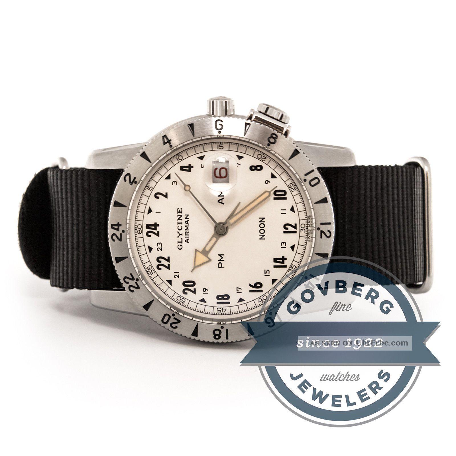 Glycin Flieger 1953 - Vintage Limitierten Auflage Stahl Automatik Uhr 3904 - 14 - Tb9 Armbanduhren Bild