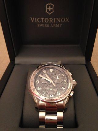 Victorinox Swiss Army Uhr Silber Herren Men ' S Chrono Classic Referenz 241405 Bild