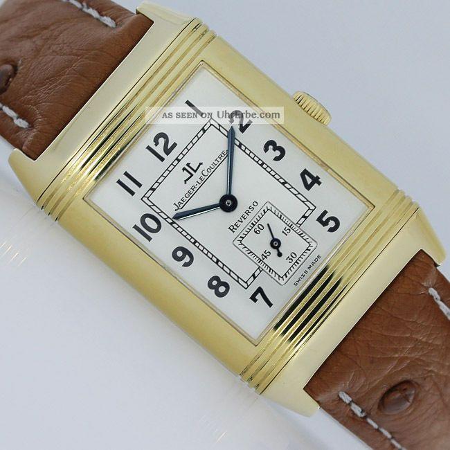 Jaeger - Lecoultre Reverso Grand Taille Gold Uhr Armbanduhren Bild