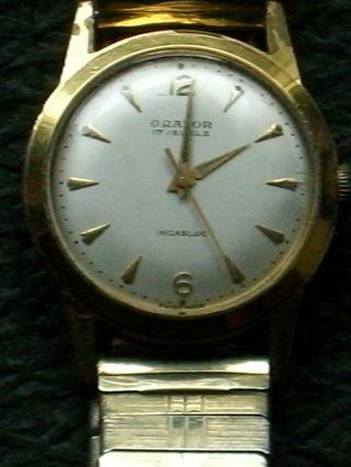 Seltene Mechanische Orator Handaufzug Hau,  Herrenarmbanduhr,  Herrenuhr,  Armbanduhr Bild