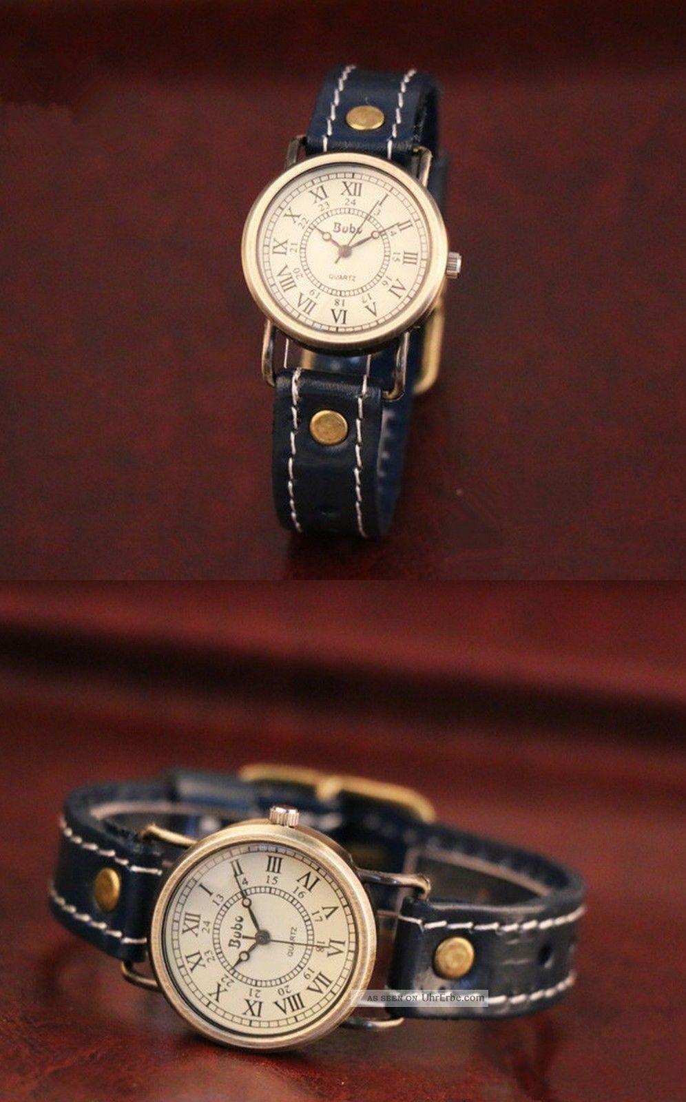 Herren Uhr Damen Armbanduhr Lederarmbanduhr Watch Analog L.  24cm Armbanduhren Bild