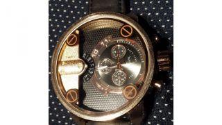 Herren Uhr Leder Armbanduhr Edelstahl Herrenuhr U001 Bild