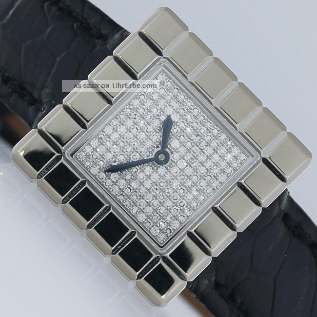 Chopard Ice Cube 64 Diamanten Papiere 2011 Weissgold Uhr Armbanduhren Bild