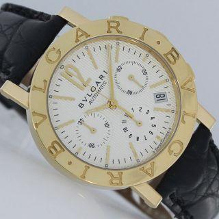 Bulgari Bulgari Automatik Chronograph Papiere 2007 Gold Uhr Bild