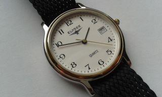 Elysee Herren Uhr Mit Perlon - Durchzugsband Ungetragen Wie Bild