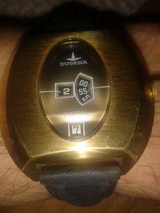 Vintage Uhr Seltene Dugena Depose Digital Scheibenuhr Bild