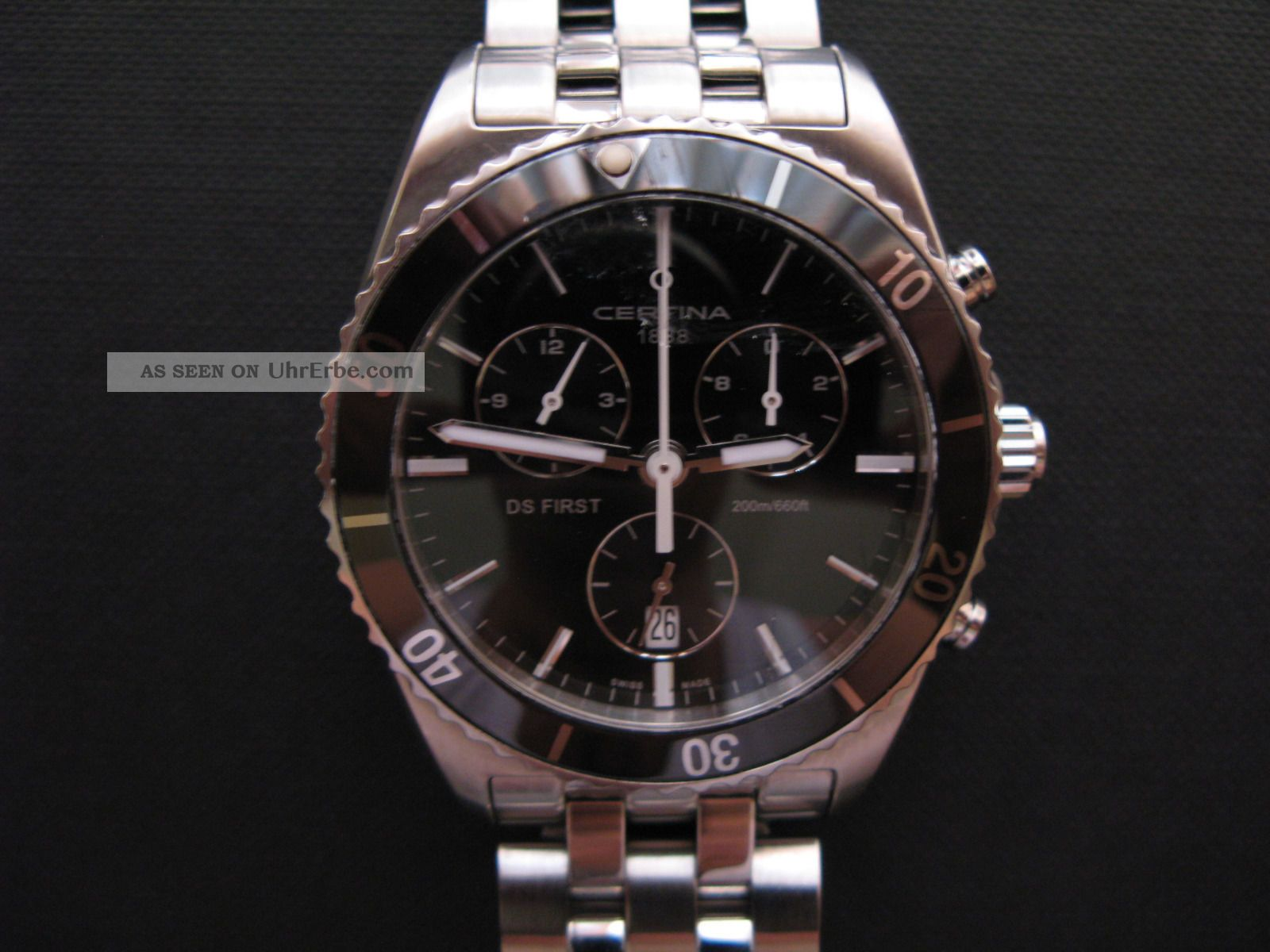 Certina Ds First Gent Ceramic Chronograph Armbanduhren Bild