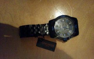 Schwarze Herren Uhr Von Lancaster Bild