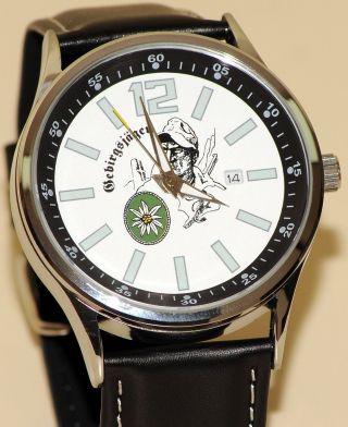Gebirgsjäger Imc Strato Silber Armbanduhr Uhr Günstig Ovp Sonderedition Bild
