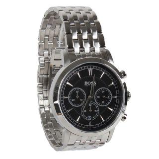Chronograph Edelstahl Uhr Hugo Boss Schwarz 1512903,  Originalverpackung Bild