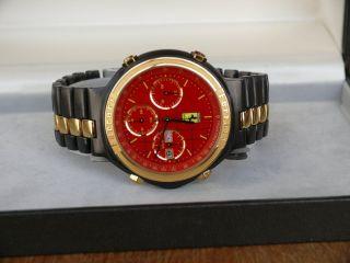 Ferrari Uhr By Cartier Formula Sammleruhr Von 1991 Automatik Chronograph Bild
